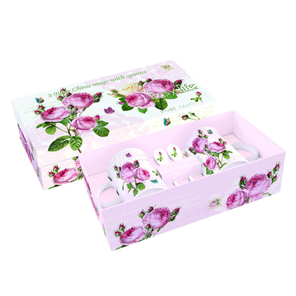 Чайный набор ROMANTIC ROSES с ложками 4 предмета