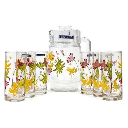 Набор CRAZY FLOWERS кувшин + 6 стаканов