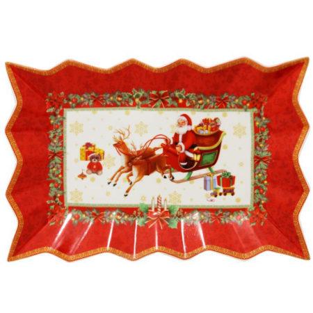 Тарелка CHRISTMAS RED 35*23 см