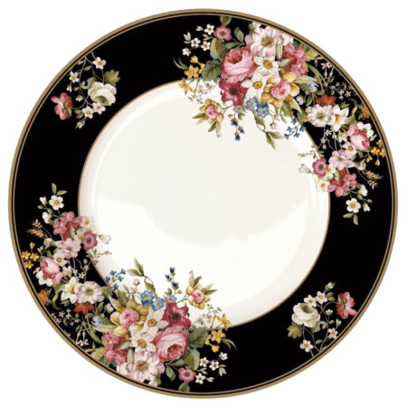 Тарелка обеденная BLOMING OPULENCE BLACK 27см