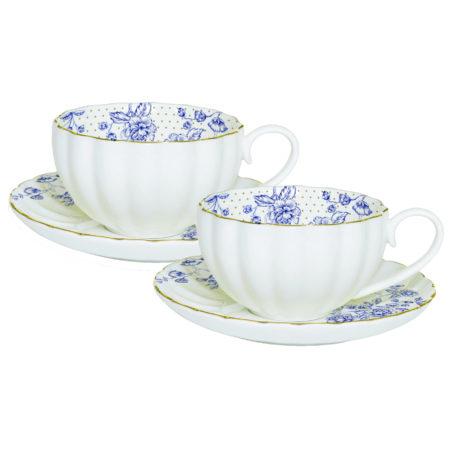 Набор кофейный BLUE PEONIES 2 пары