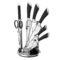 Набор ножей INFINITY LINE 8 пр черный [BH-2042]