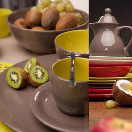 Тарелка суповая FUSION FRESH GRAY 21 см