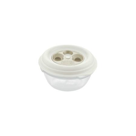 Контейнер FRESH WAVE круглый 0,5 л кремовый