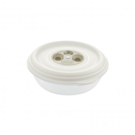 Контейнер FRESH WAVE круглый 1,0 л кремовый