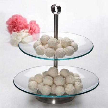 Подставка для десерта LAURA круглая 2 яруса