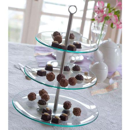 Подставка для десерта LAURA круглая 3 яруса