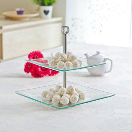 Подставка для десерта LAURA квадратная 2 яруса
