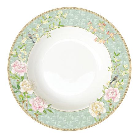 Тарелка суповая PALACE GARDEN AQUA 22,5 см