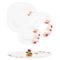 Тарелка десертная CARINA FLORENZA WHITE 19 см [N2779]