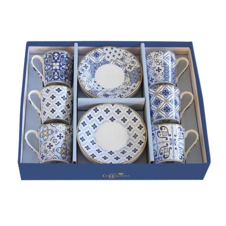 Набор кофейный COFFEE MANIA TILES BLUE 12 предметов