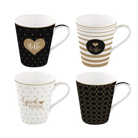 Набор кружек COFFEE MANIA GOOD MORNING 4 штуки