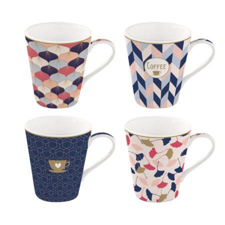 Набор кружек COFFEE MANIA HOME 4 штуки