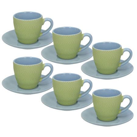 Набор кофейный RELIEF COOL 12 предметов