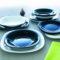 Тарелка десертная CARINE BLACK 19x19 см [L9816]