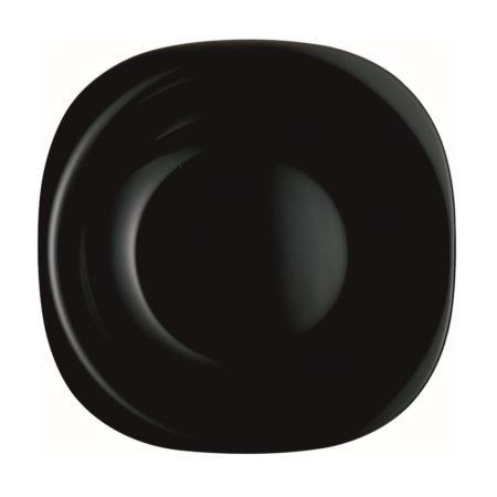 Тарелка суповая CARINE BLACK 21×21 см