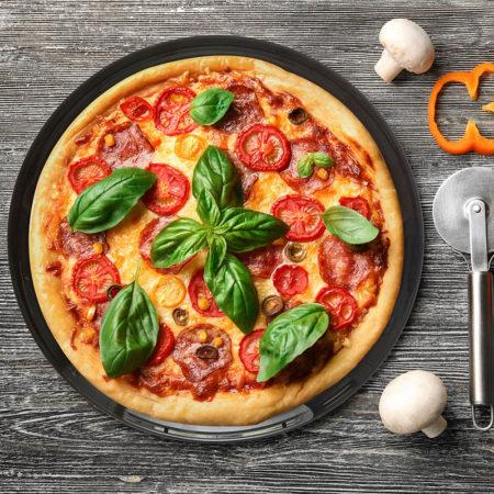 Тарелка FRIENDS TIME BLACK 32 см для пиццы