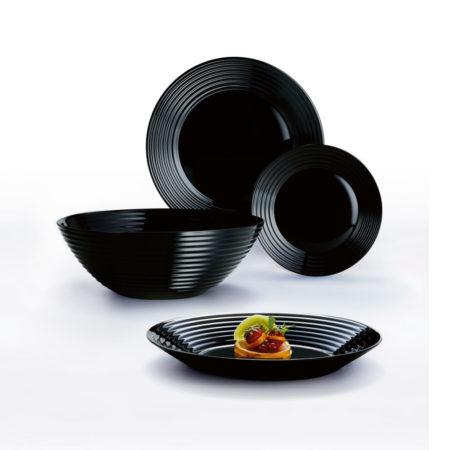 Тарелка суповая HARENA BLACK 23,5 см
