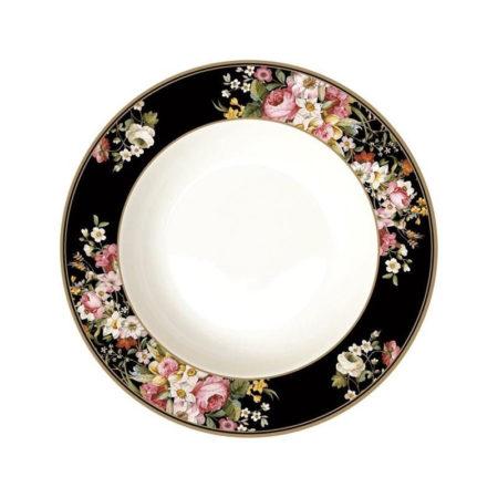 Тарелка суповая BLOMING OPULENCE BLACK 22,5 см