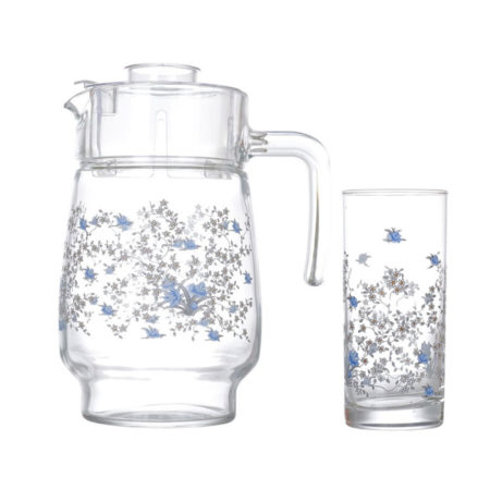 Набор ROMANTIQUE ARCOPAL кувшин + 6 стаканов