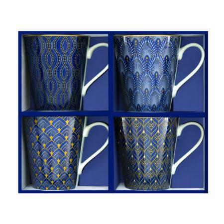 Набор кружек COFFEE MANIA ART DECO 300 мл 4 шт