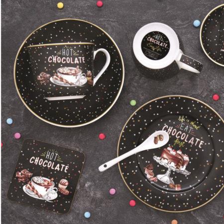 Тарелка десертная HOT CHOCOLATE 19 см
