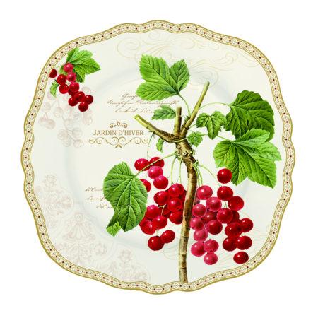 Тарелка десертная JARDIN D'HIVER 20 см
