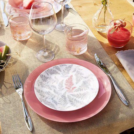 Тарелка обеденная ARTY 26 см розовый