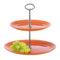 Подставка для десерта ARTY 2 яруса оранжевая