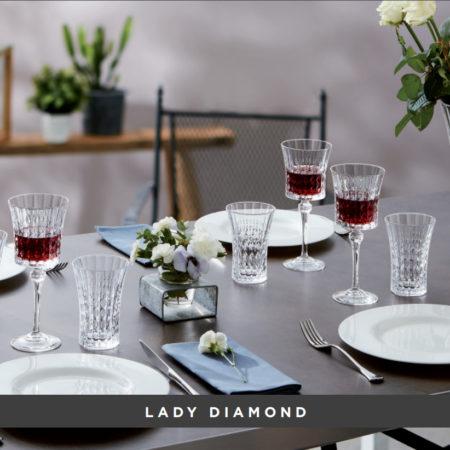 Набор фужеров LADY DIAMOND ECLAT 270 мл 6 шт