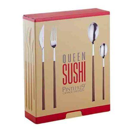 Набор столовых приборов SUSHI KING WENGE WOOD 24 предмета