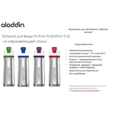 Бутылка вакуумная ALADDIN ACTIVE HYDRATION 0,6 л синяя