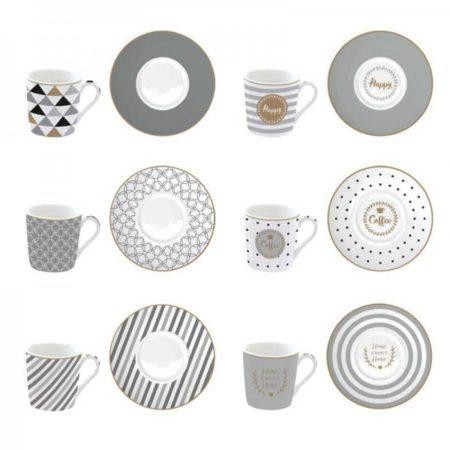 Набор кофейный COFFEE MANIA HAPPY 100 мл 12 предметов