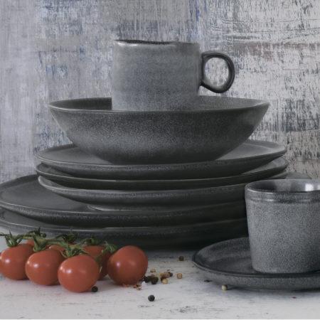 Тарелка суповая ESSENTIAL DARK GREY 18 см