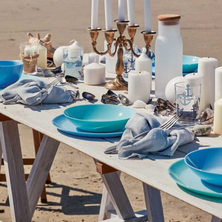 Тарелка обеденная DIWALI LIGHT BLUE 25 см