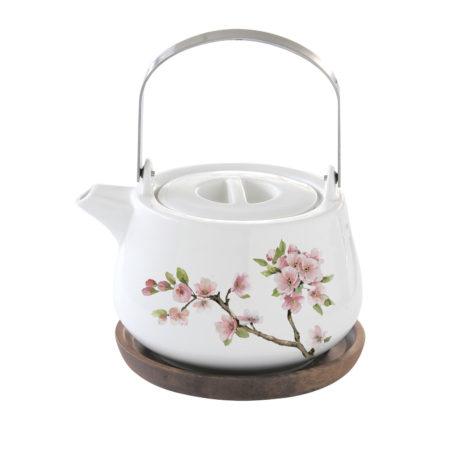 Чайник заварочный SAKURA 750 мл с подставкой