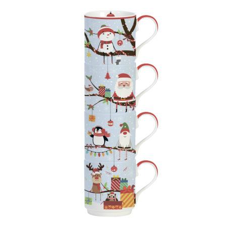 Набор кружек CHRISTMAS TREE 275 мл 4 шт