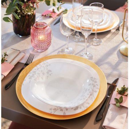 Тарелка десертная OMBRELLE WHITE 19 см