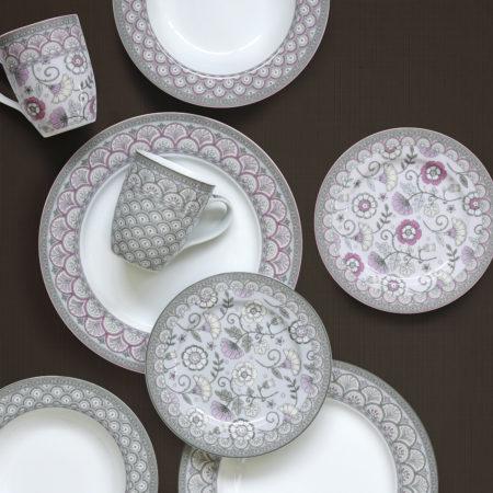 Набор тарелок KALAMKARI PINK 19 см 4 шт