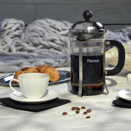 Чайник заварочный LATTE 1000 мл с поршнем FISSMAN