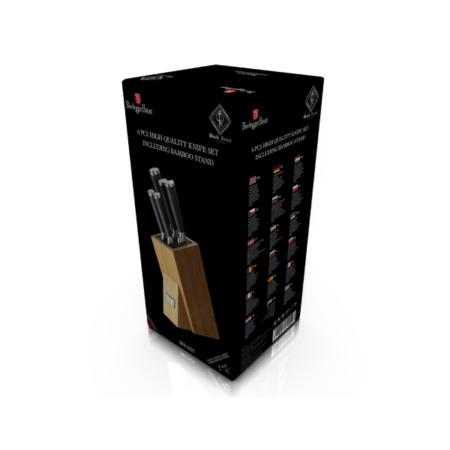 Набор ножей BLACK ROYAL LINE 6 предметов в подставке бамбук