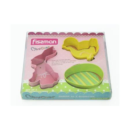 Набор формочек для вырезания печенья 3 шт FISSMAN