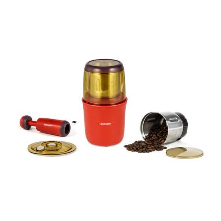 Кофемолка-мультимолка  OURSSON цвет красный
