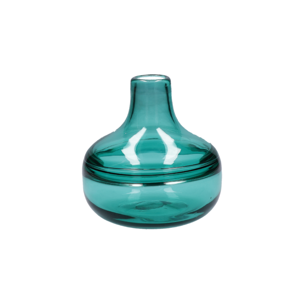 Ваза MAREA BOTTLE DROP TURQUOISE 15×15 см