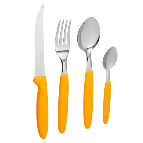 Набор столовых приборов IPANEMA 24 предметов оранжевый