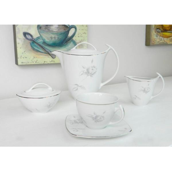 Набор кофейно-чайный AKCENT ROSE GREY 12 предметов 250 мл