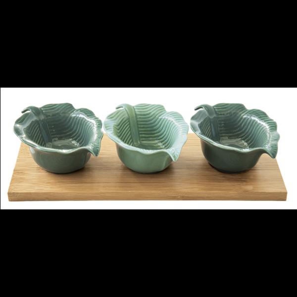 Набор салатников на подставке MADAGASCAR 29×11 см