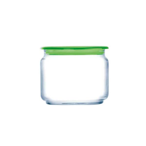Банка PLANO 0,5 л для сыпучих зеленая крышка