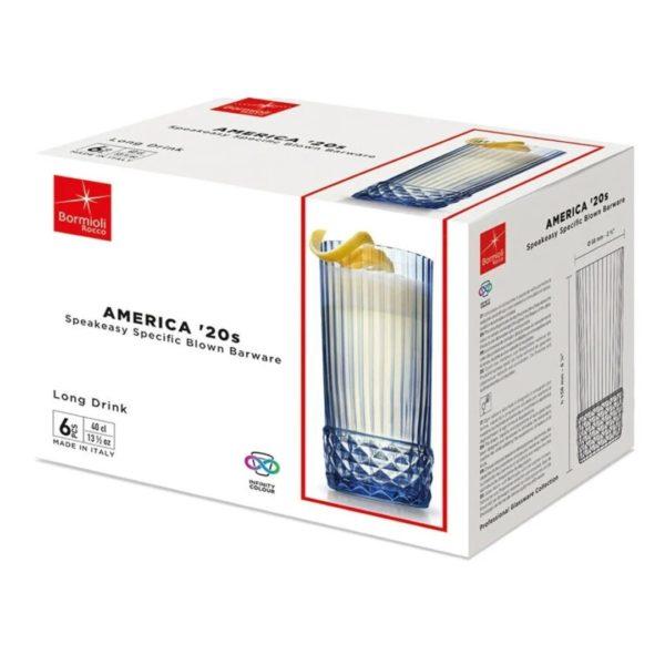 Набор стаканов AMERICA 20s 400 мл 6 шт цвет голубой