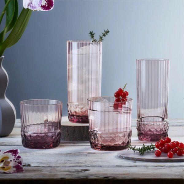 Набор стаканов AMERICA 20s 300 мл 6 шт цвет розовый